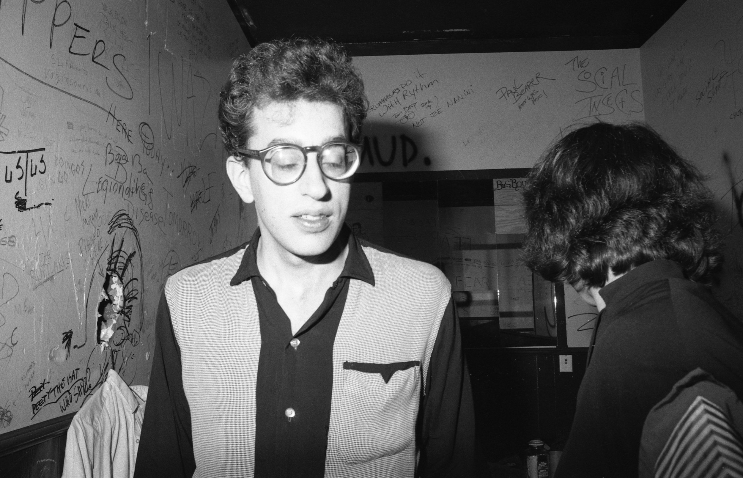 "Los Angeles, ca. 1980. Backstage at the Whisky. A member of the band ""No Sisters."""