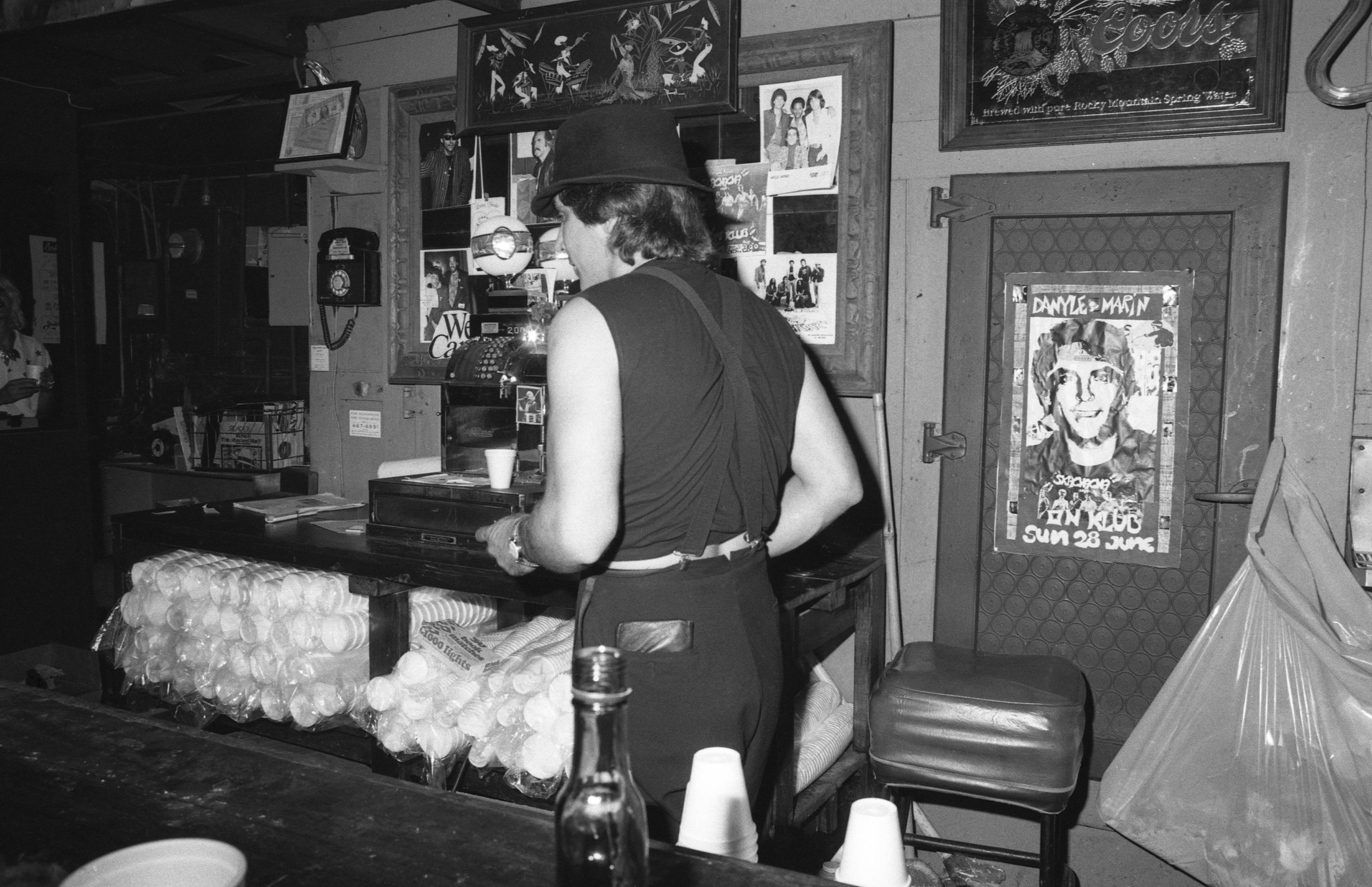 Bartender, On Klub, Los Angeles, 1981.