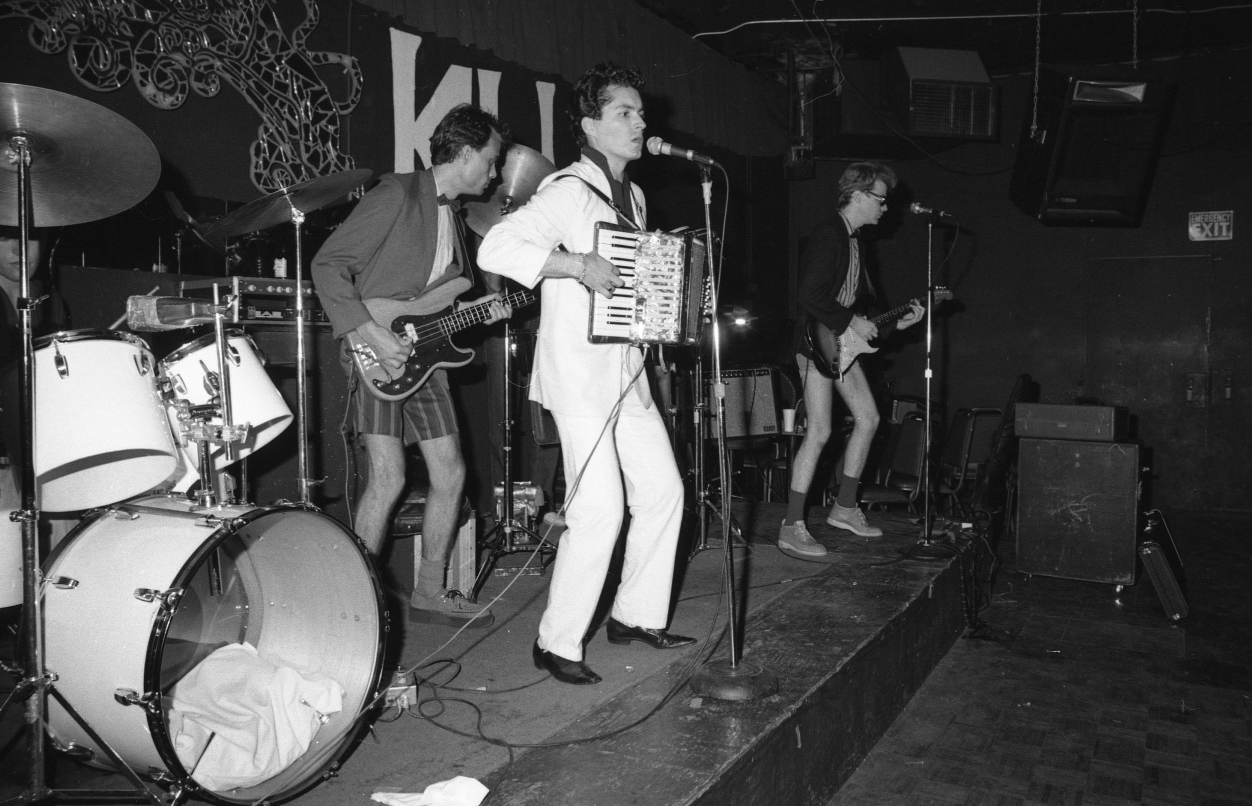 Billy Sheets and Undercover, On Klub, Los Angeles, 1981.