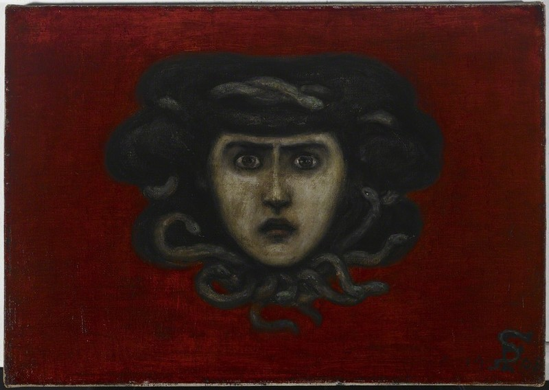 Florine Stettheimer,  Head of Medusa (Head of Ettie Stettheimer as Medusa) , 1908. Avery Library, New York.