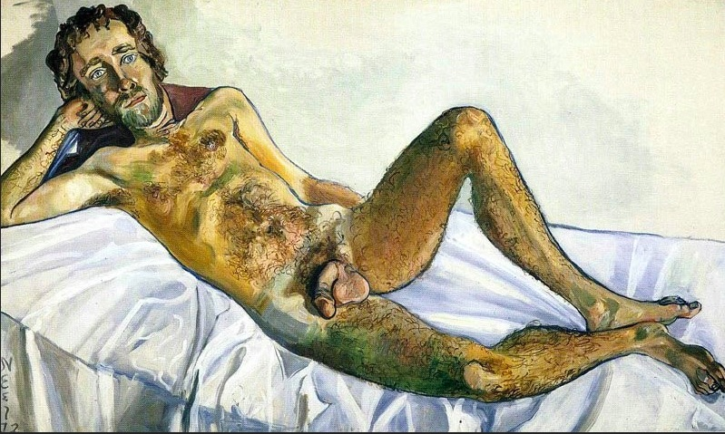Alice Neel,  John Perreault , 1972. Whitney Museum of American Art, New York.