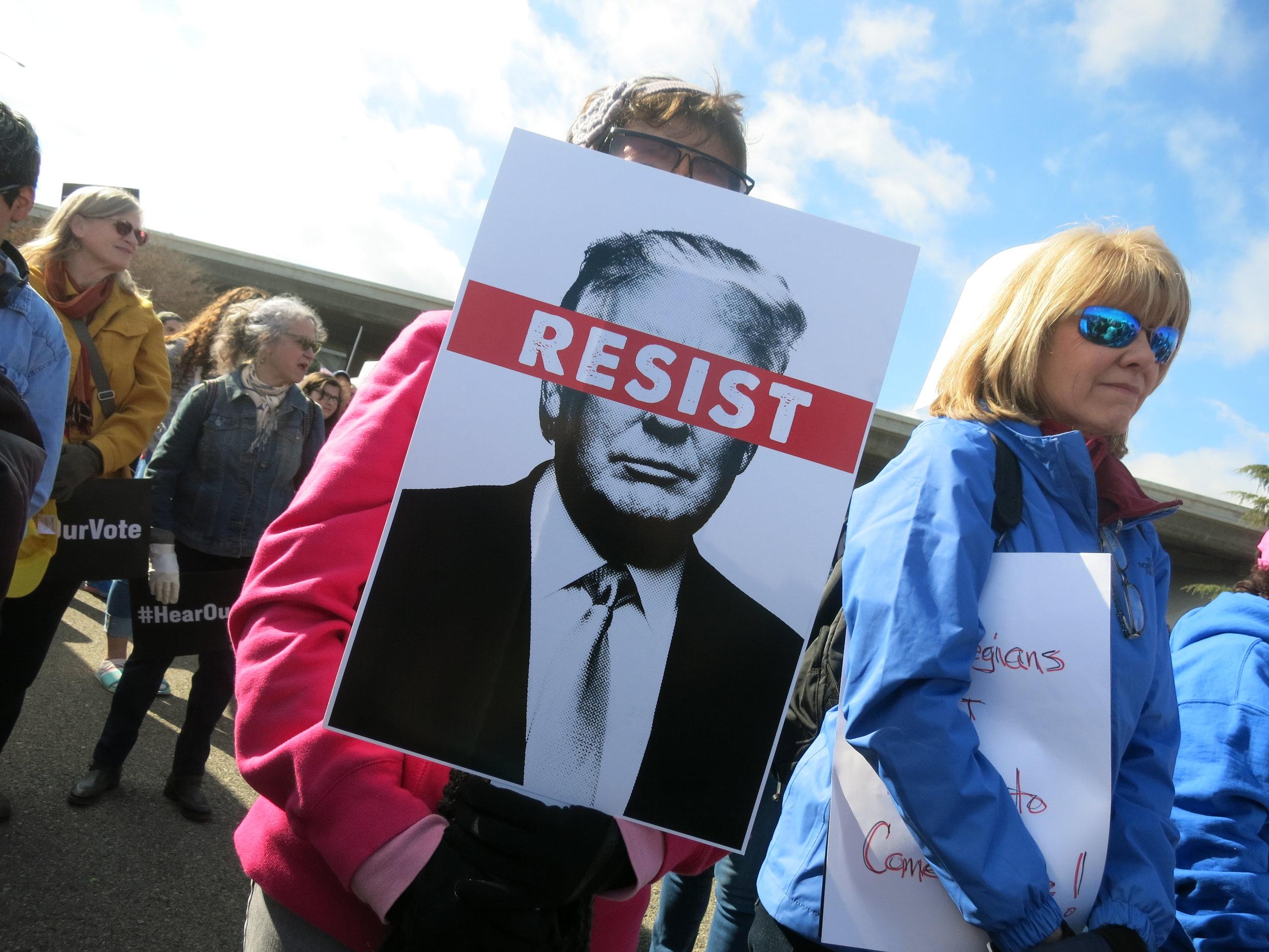 Women's March participants, Fresno CA, Jan 20 2018