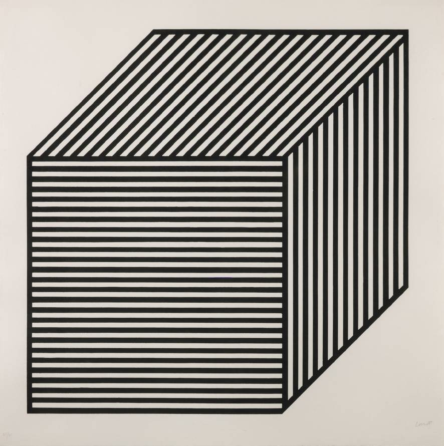 Sol LeWitt, from series  Five Forms Derived from a Cube,  1984. Tate, ref. P77014.