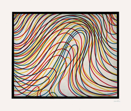 Sol LeWitt,  Wavy Lines with Black Border , 1997.