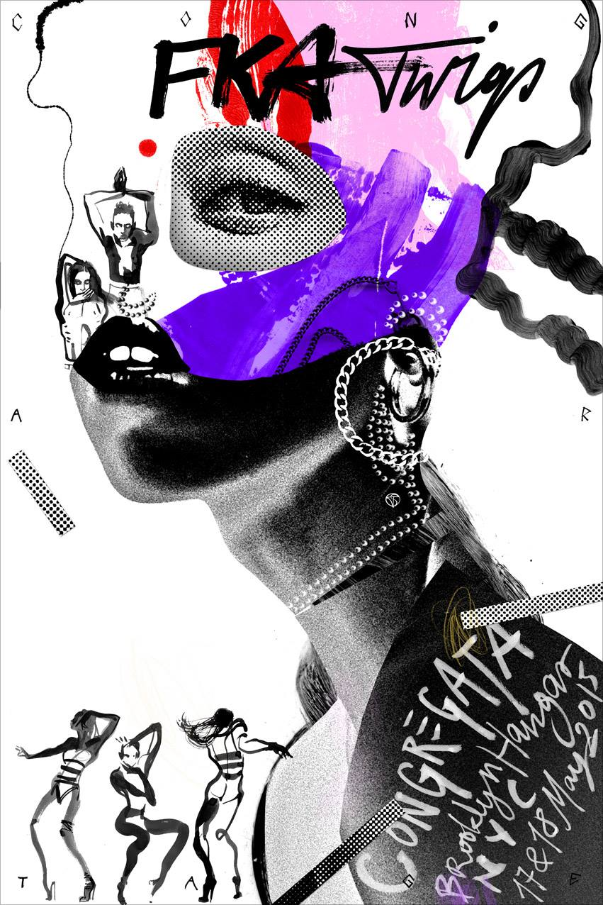FKA TWIGS 'Congregata' NYC, artwork: Tomek Sadurski