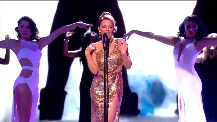 KYLIE MINOGUE @ the Queen's Royal Variety Show