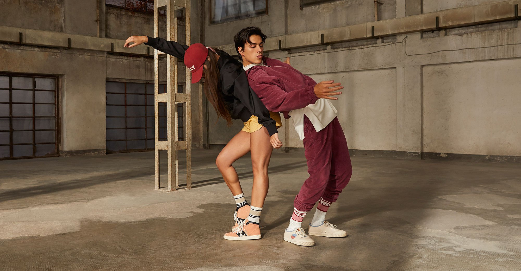BALLY RETRO SNEAKERS campaign, movement directed by Pat Boguslawski