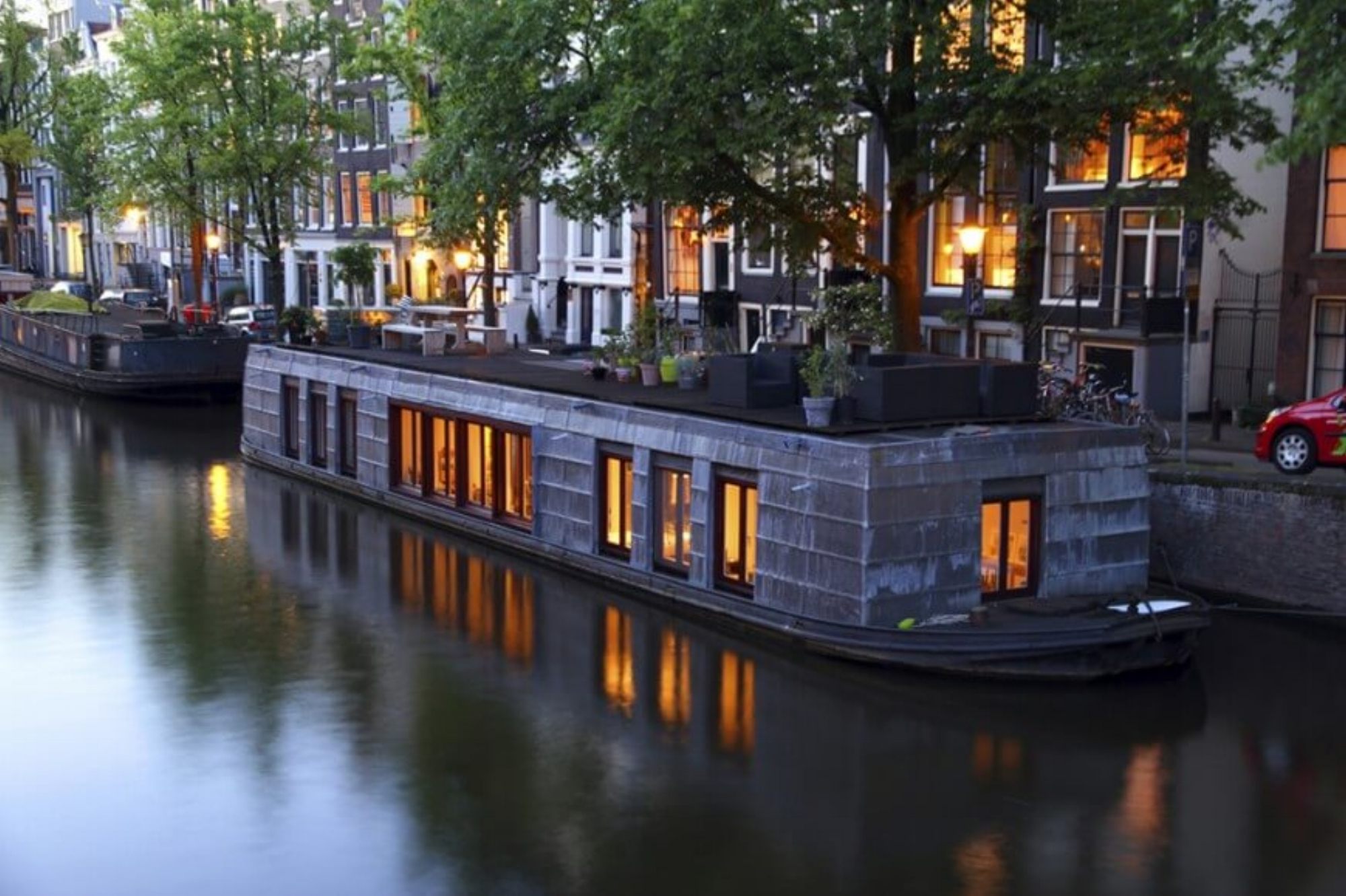 Houseboat on Amsterdam Canal