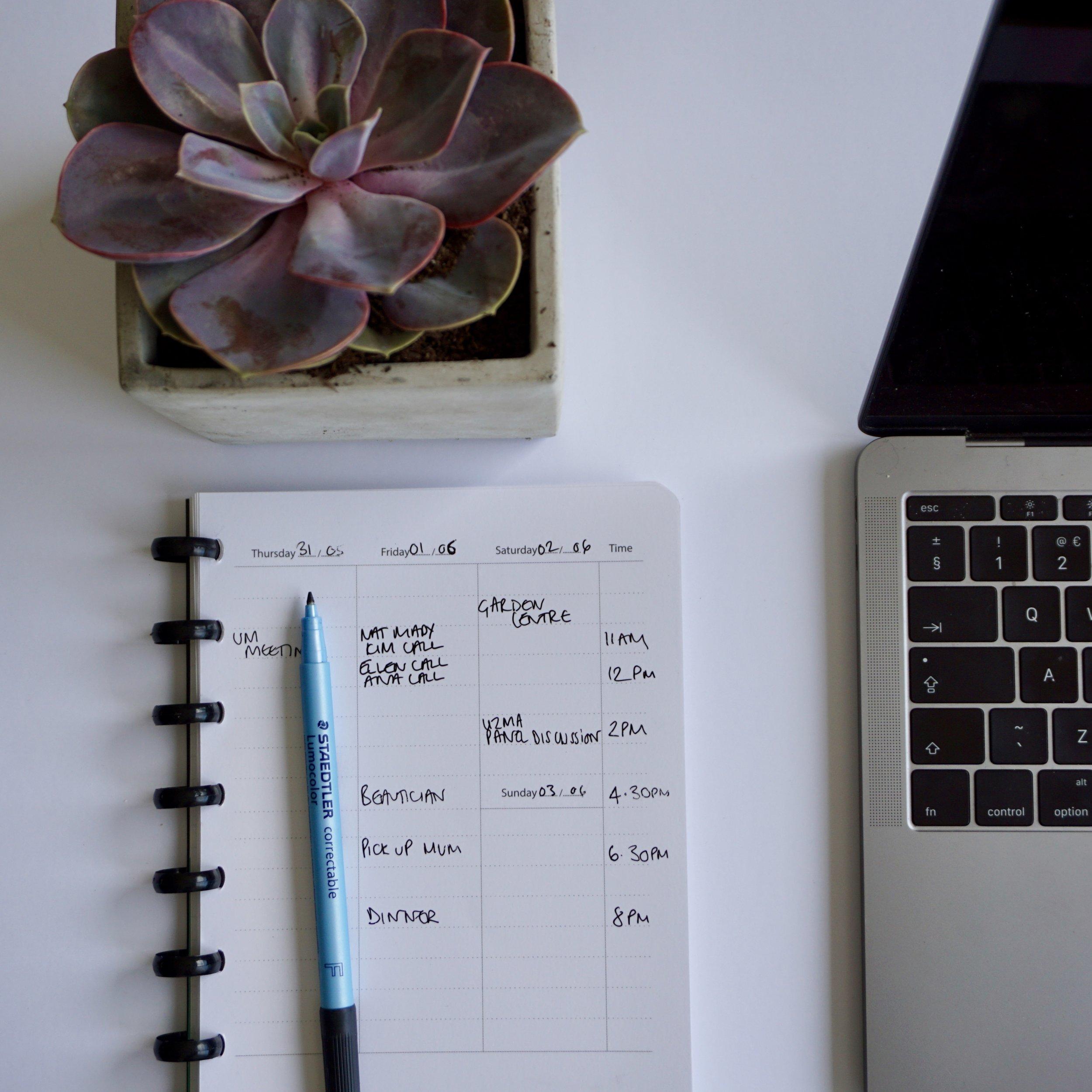Greenbook weekly planner from Greenstory