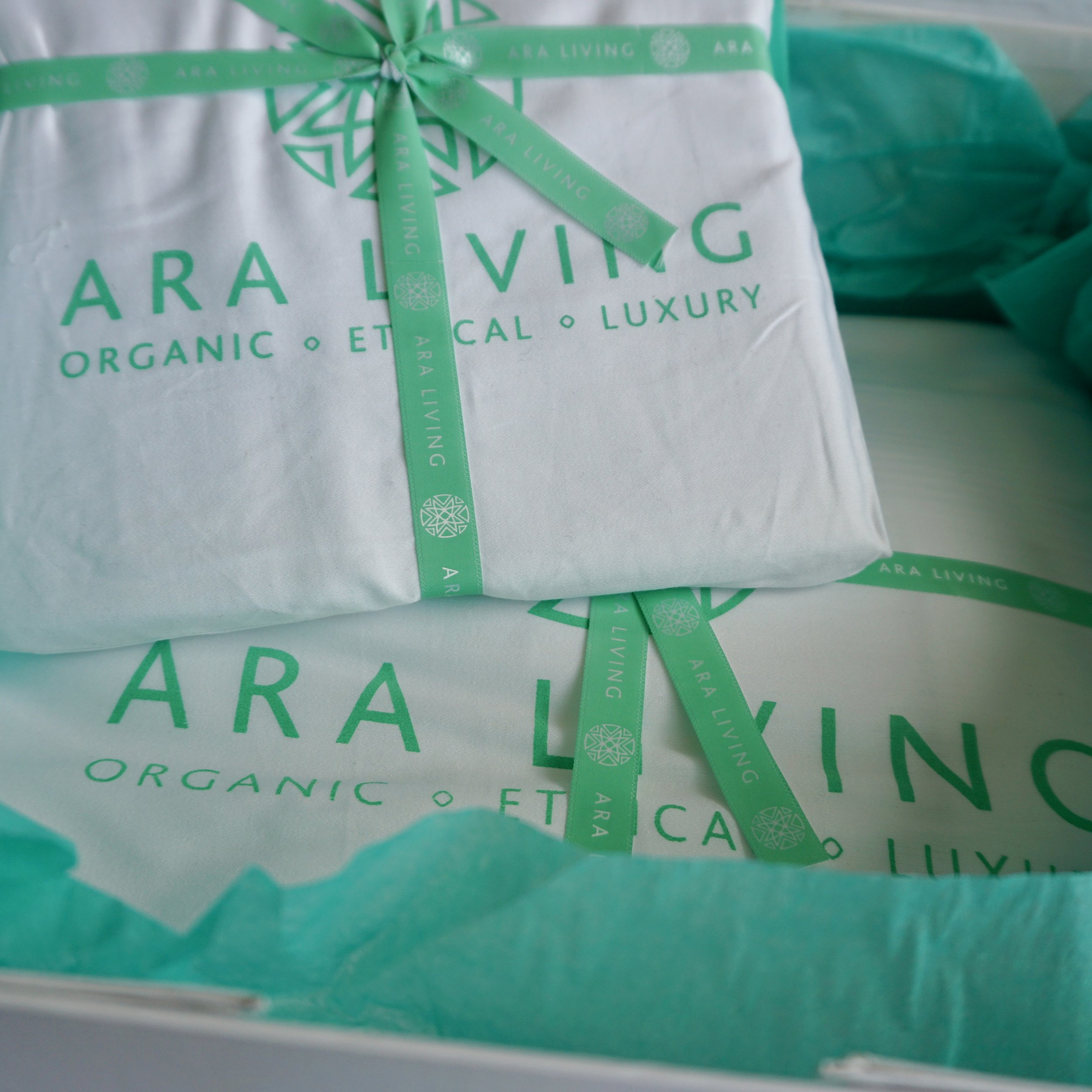 Ara living packaging- reusable cotton bags