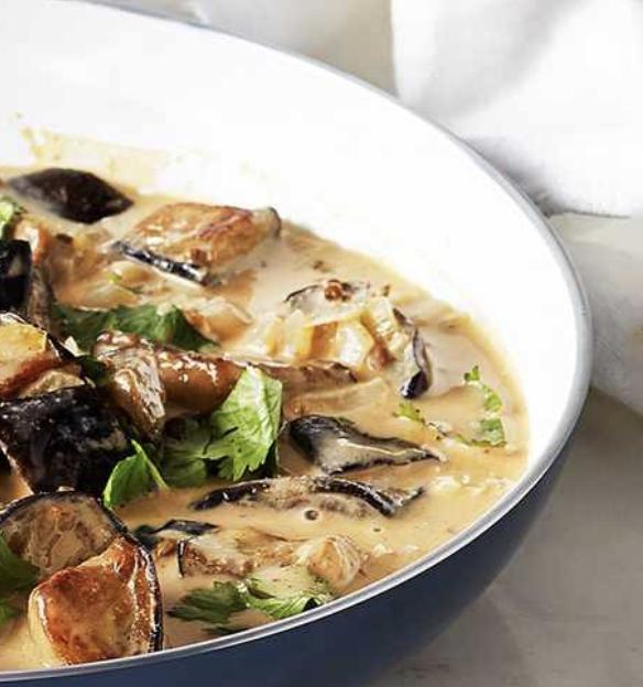 aubergine and peanut curry