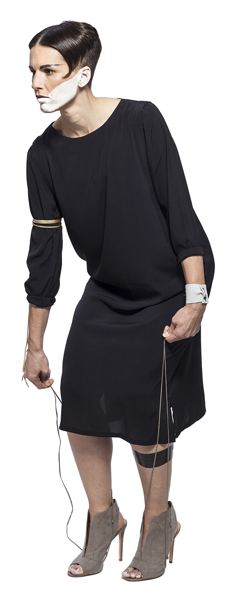 Becoming Artist International Exhibition_She Spoke_Black Dress