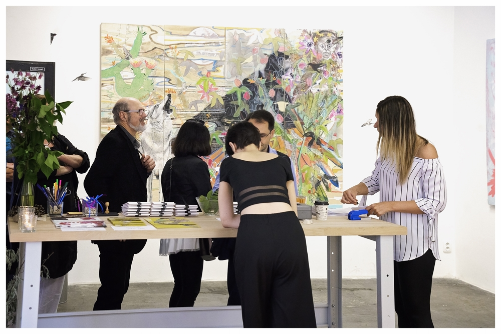 Ex02_She Spoke_Becoming Artist Exhibition_Greeting Guests.jpg