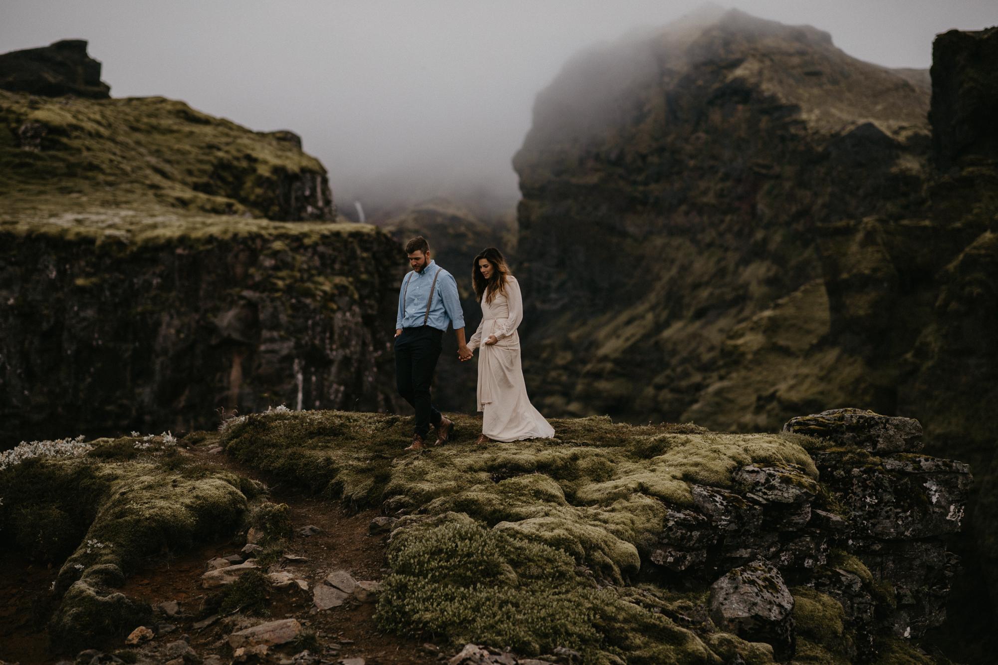 Iceland engagement elopement photographer road trip