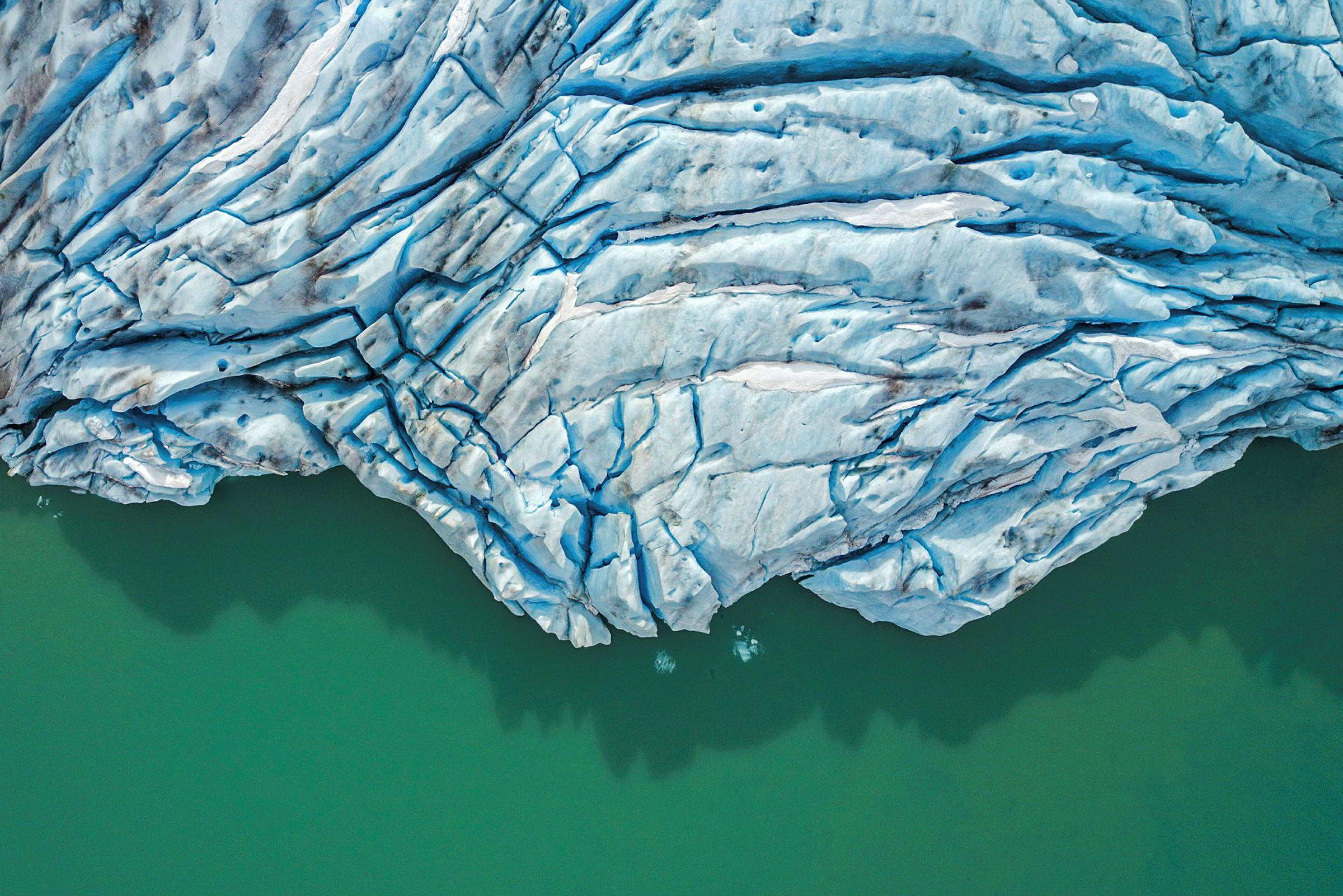 Fading Beauties - Aerial portraits of Norwegian glaciers