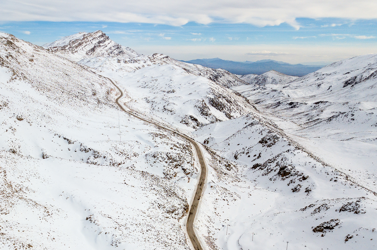 This is Sechah mountain pass, a day before!