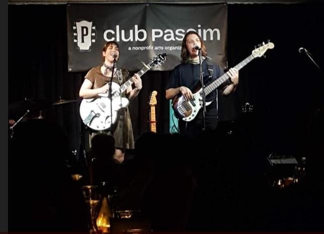 With Alisa Amador @ Club Passim