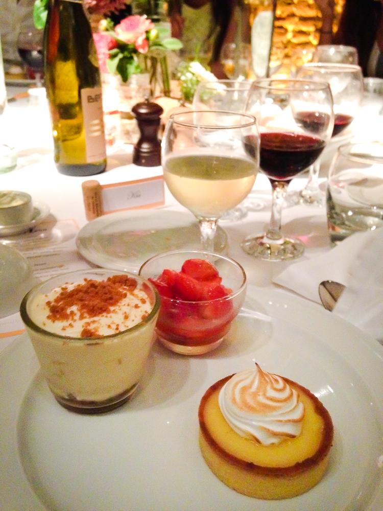 mini lemon meringue pie + strawberries with basil + speculoos tiramisu a.k.a. the best tiramisu I've ever had