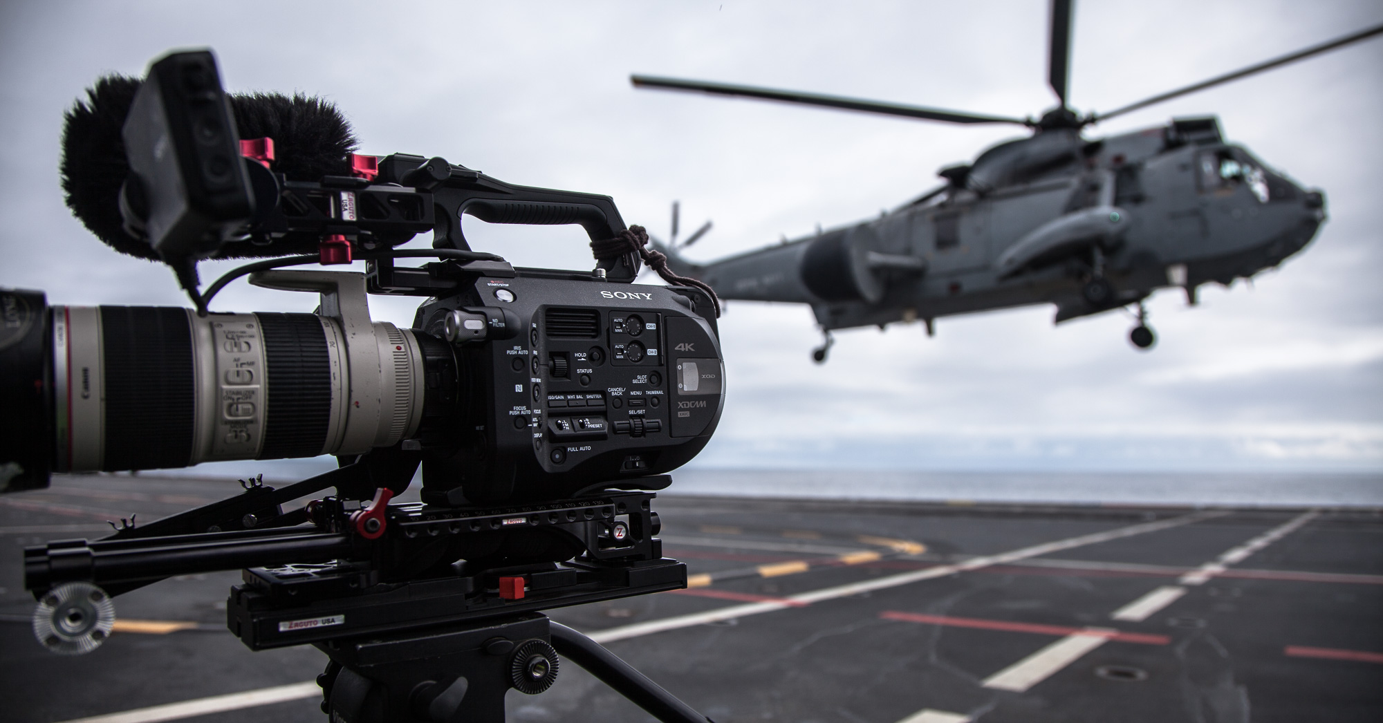 Video production company - Filming on HMS Ocean