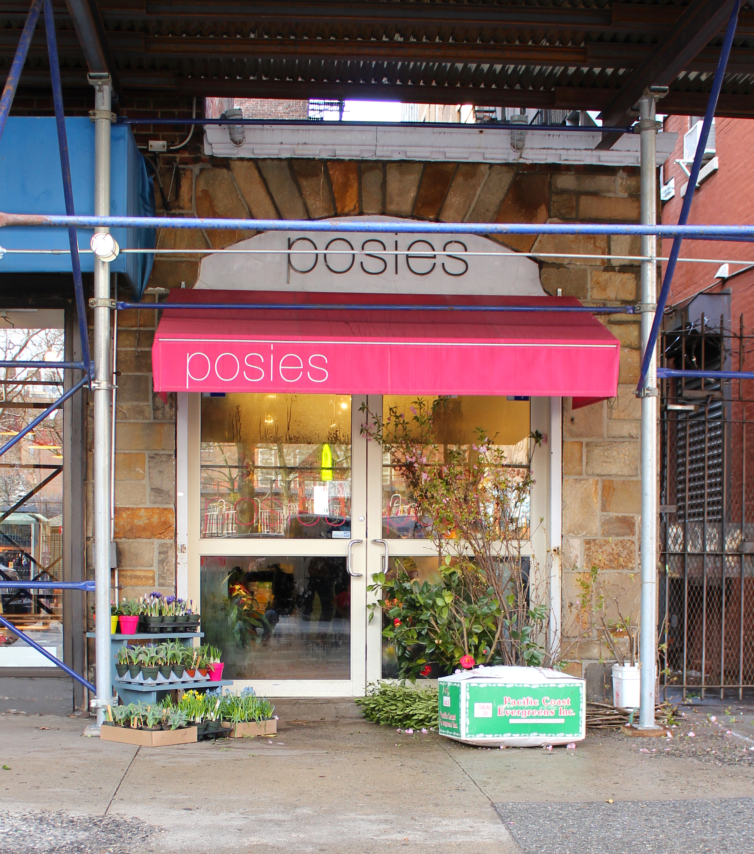 A bustling flower shop, Posies, resides in the place of the former nail salon.