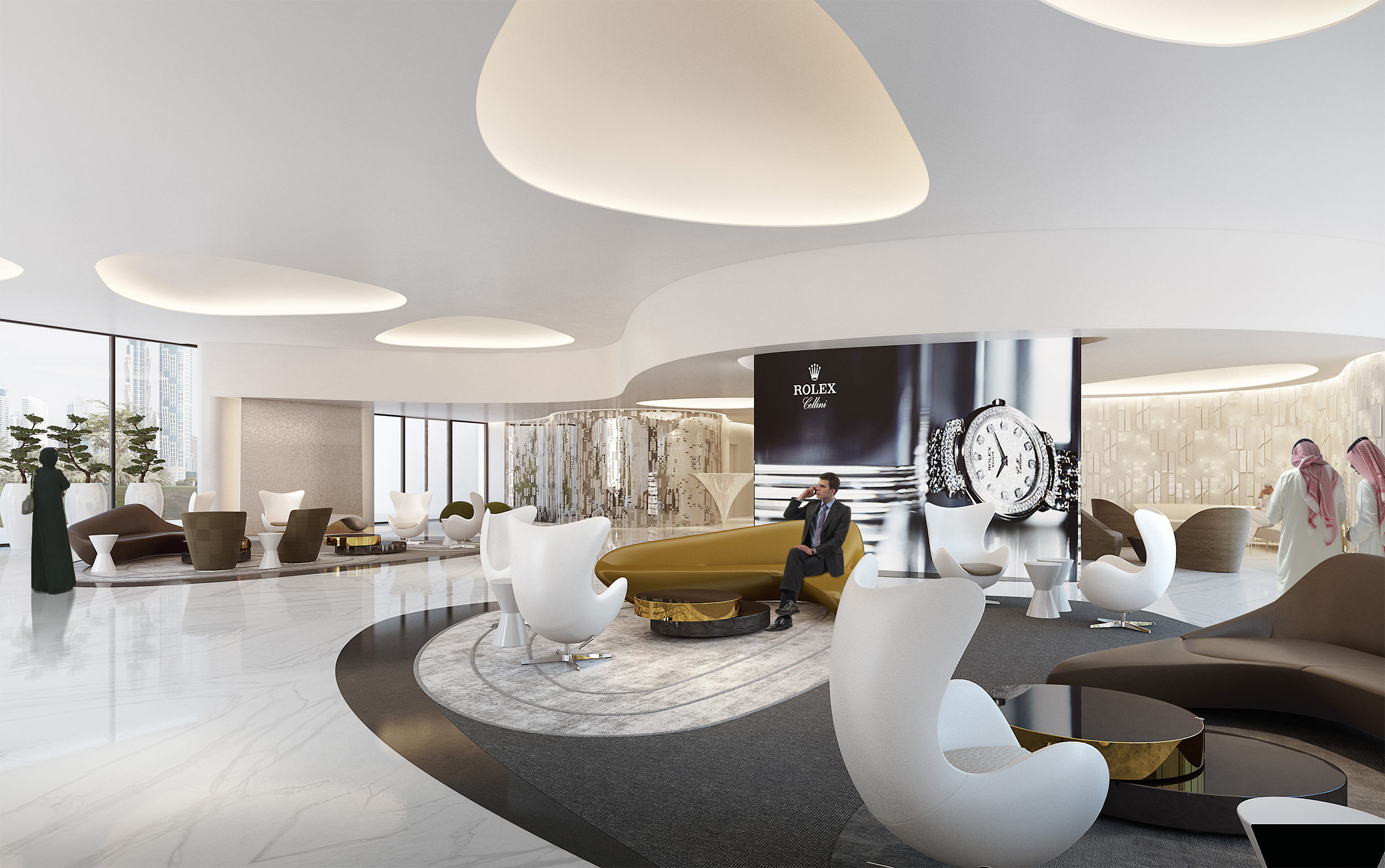 Private Jet Executive Lounge in Dubai