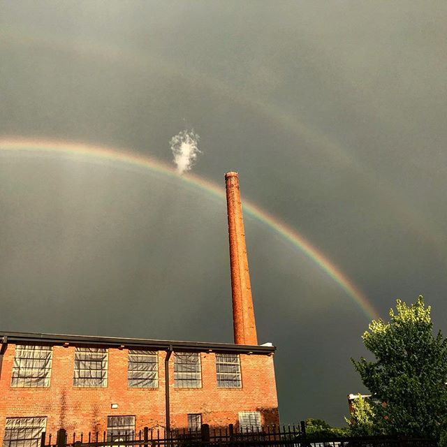 Promises.  #mill133 #downtownasheboro #historicalmillprojects #rainbows