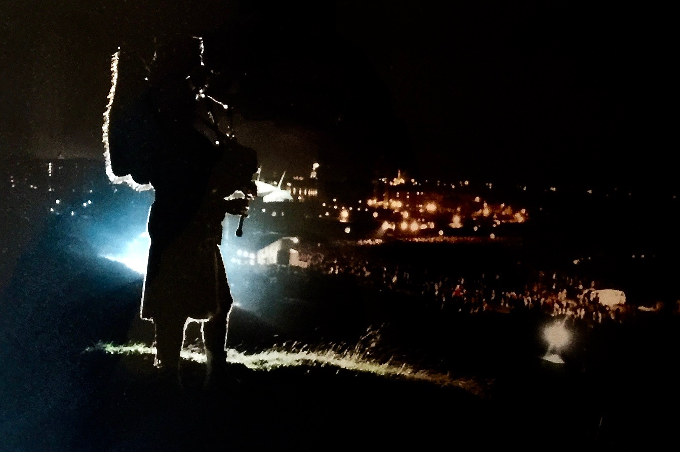 Arthurs Seat, Edinburgh    Midnight 2000