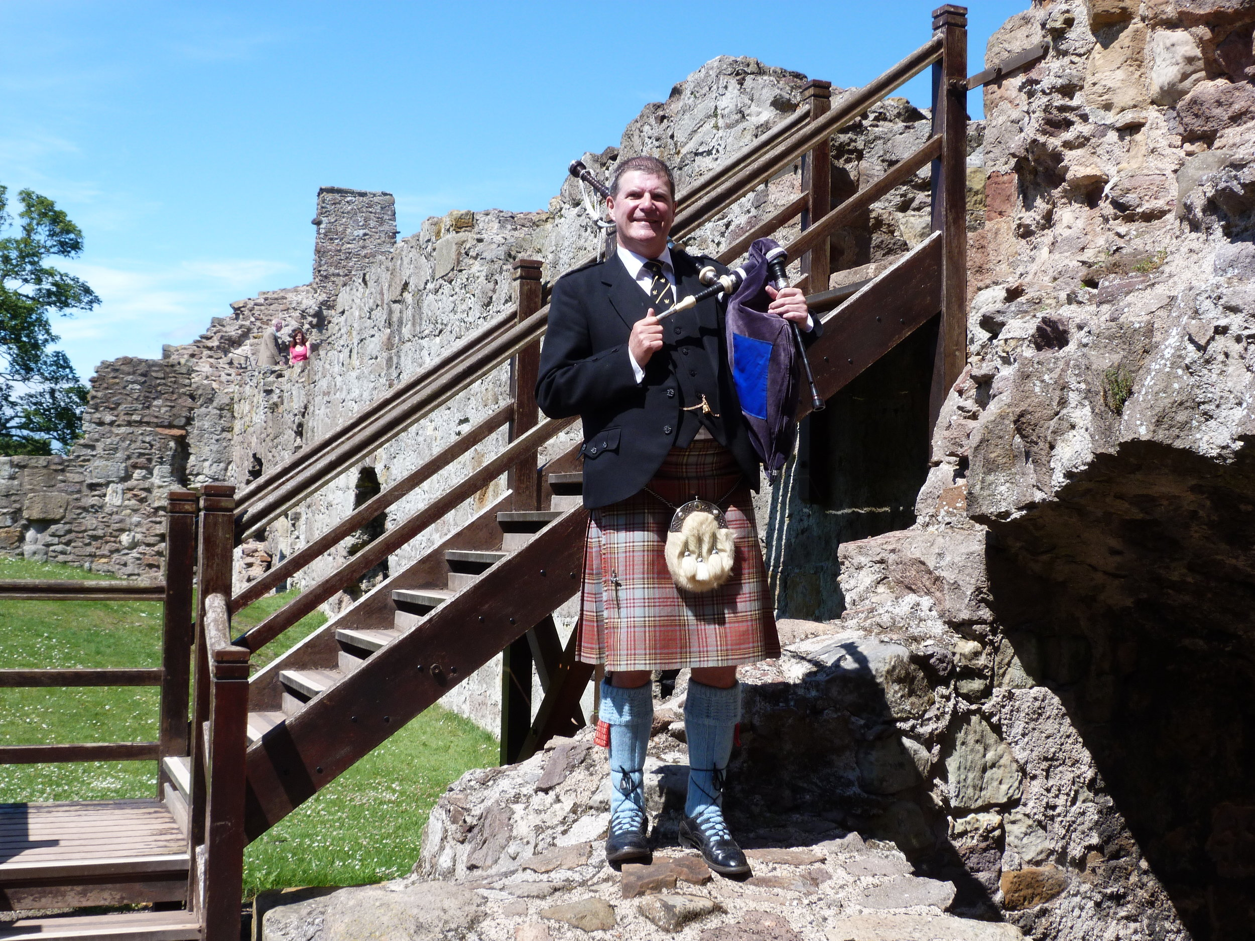 Wedding, Dirleton Castle, East Lothian