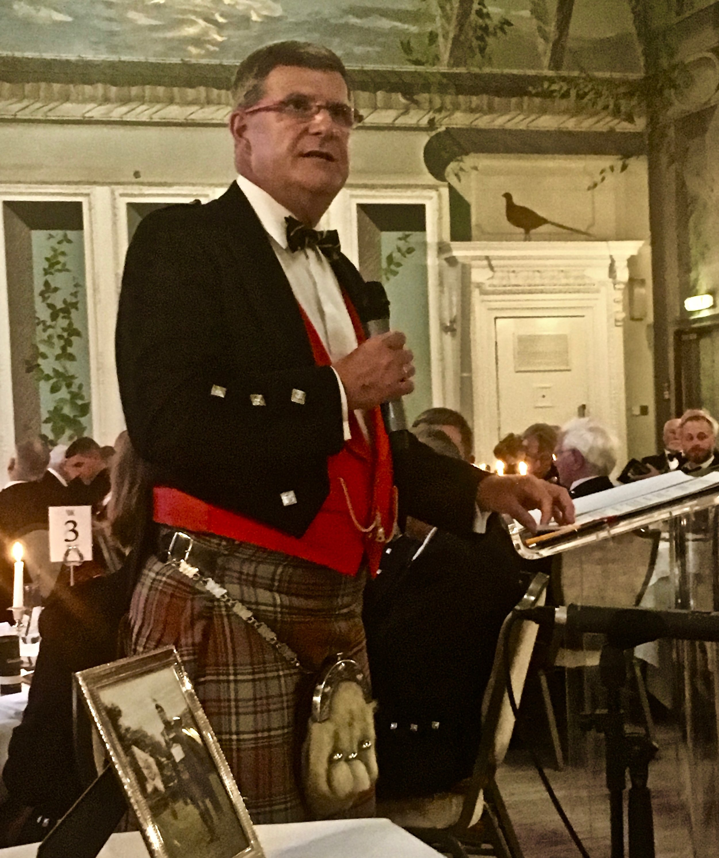 Waldorf Astoria, Edinburgh, August 2017 Captain John MacLellan Memorial dinner