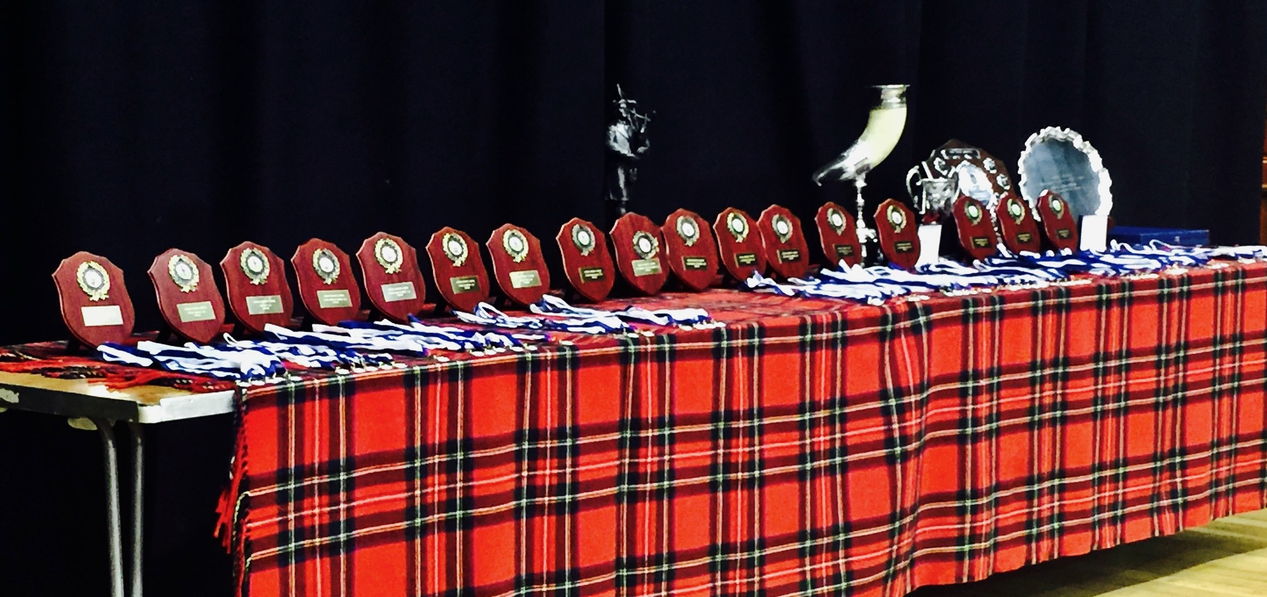 A fine array of trophies and prizes