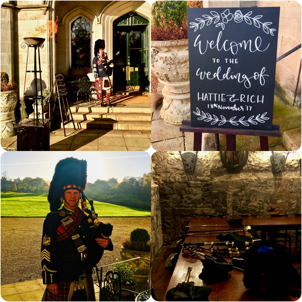 A November wedding at Dundas Castle. Mrs and Mrs Haslam-Smith. A military wedding saw an immaculate turn out from the grooms Rifle Regiment.