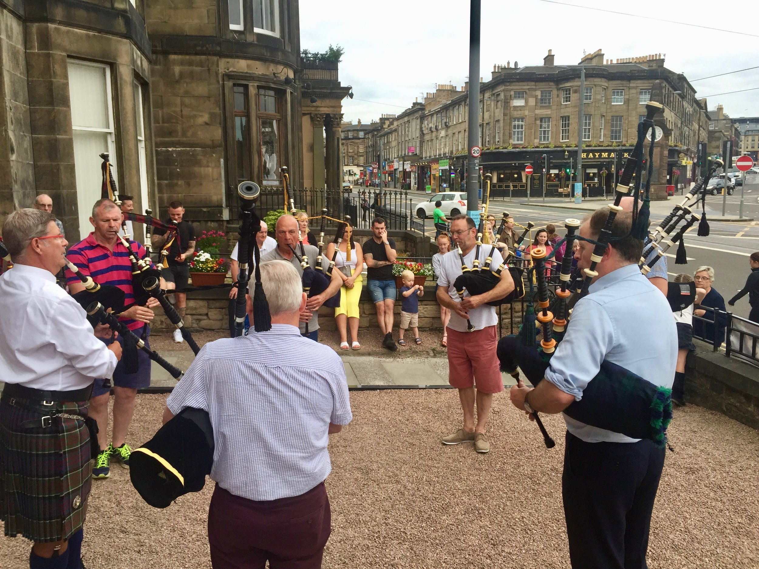 A Scottish summer allows the Eagles to play outside the Scots Guards Club Edinburgh