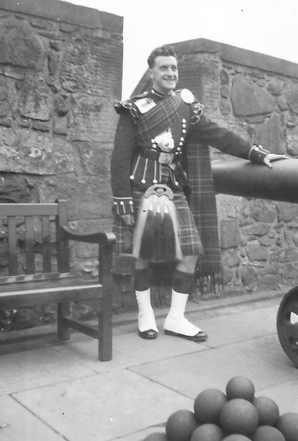 My uncle Chris Anderson, Scots Guards. Edinburgh Castle