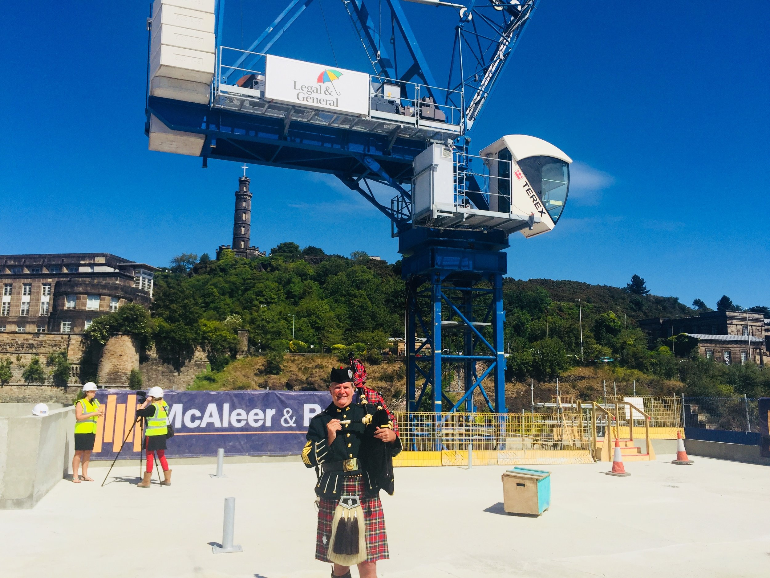 Topping Out. Waverley Edinburgh
