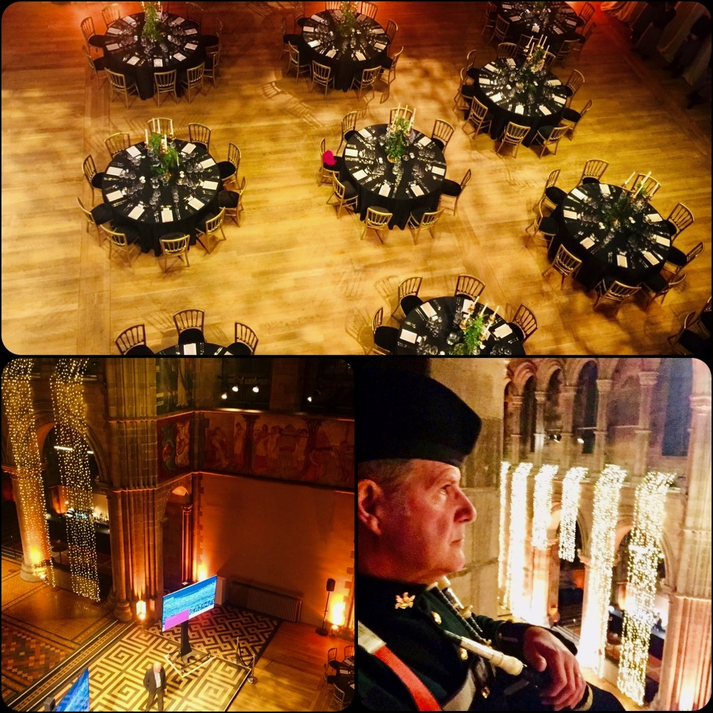 Up in the ramparts at Mansfield Traquair for a corporate dinner