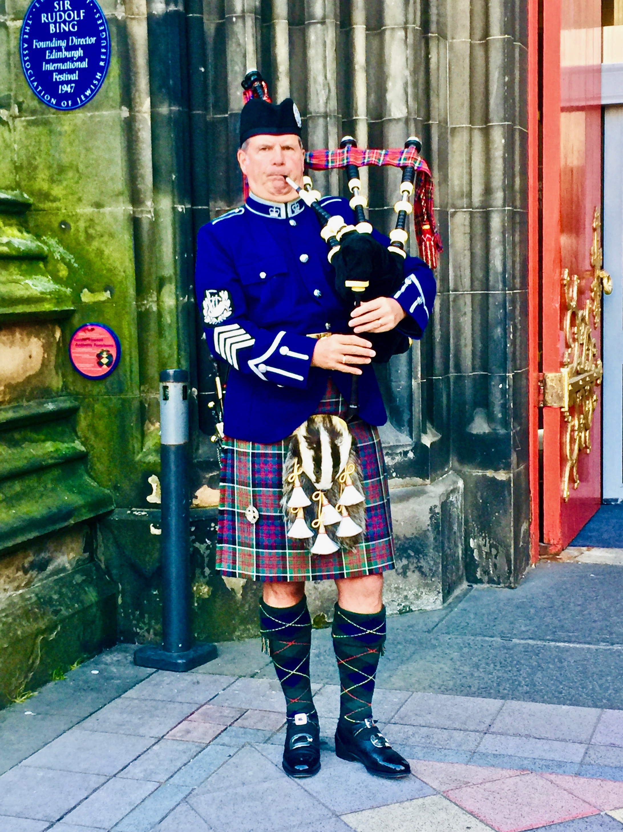 Welcome Piper, The Hub, Edinburgh Castle,May 2019