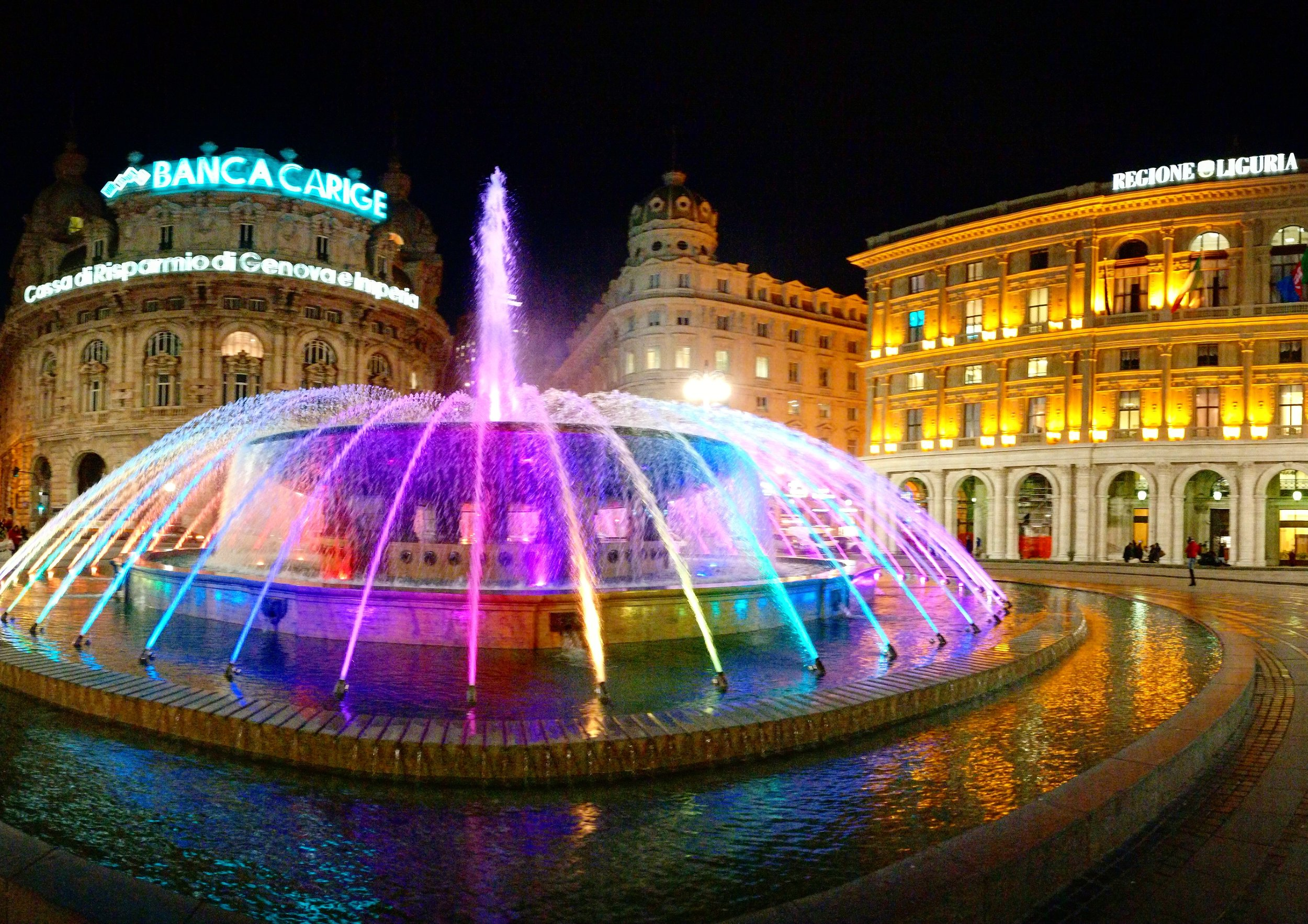 The fountain of Piazza De Ferrari
