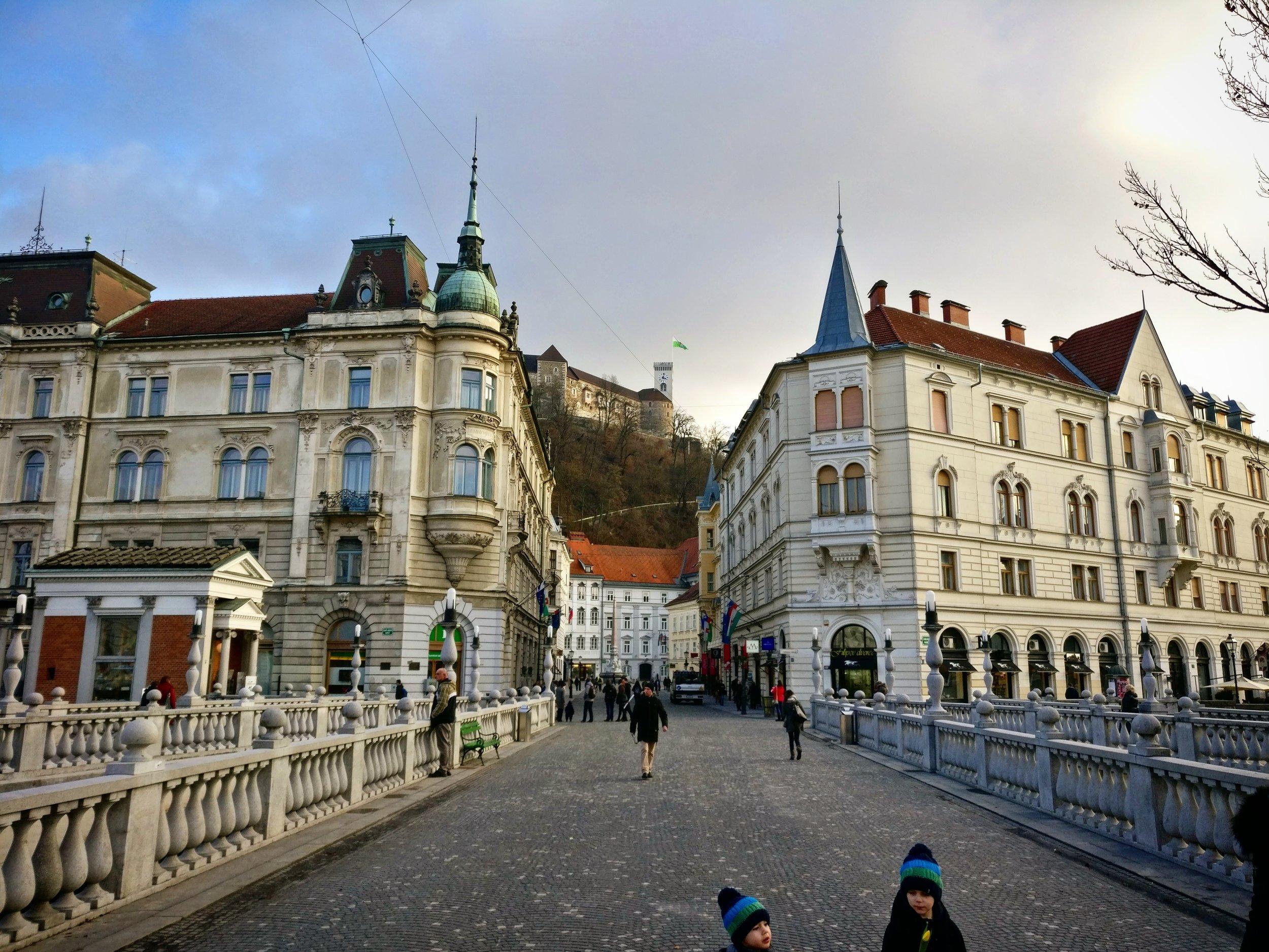 Ljubljana's city centre