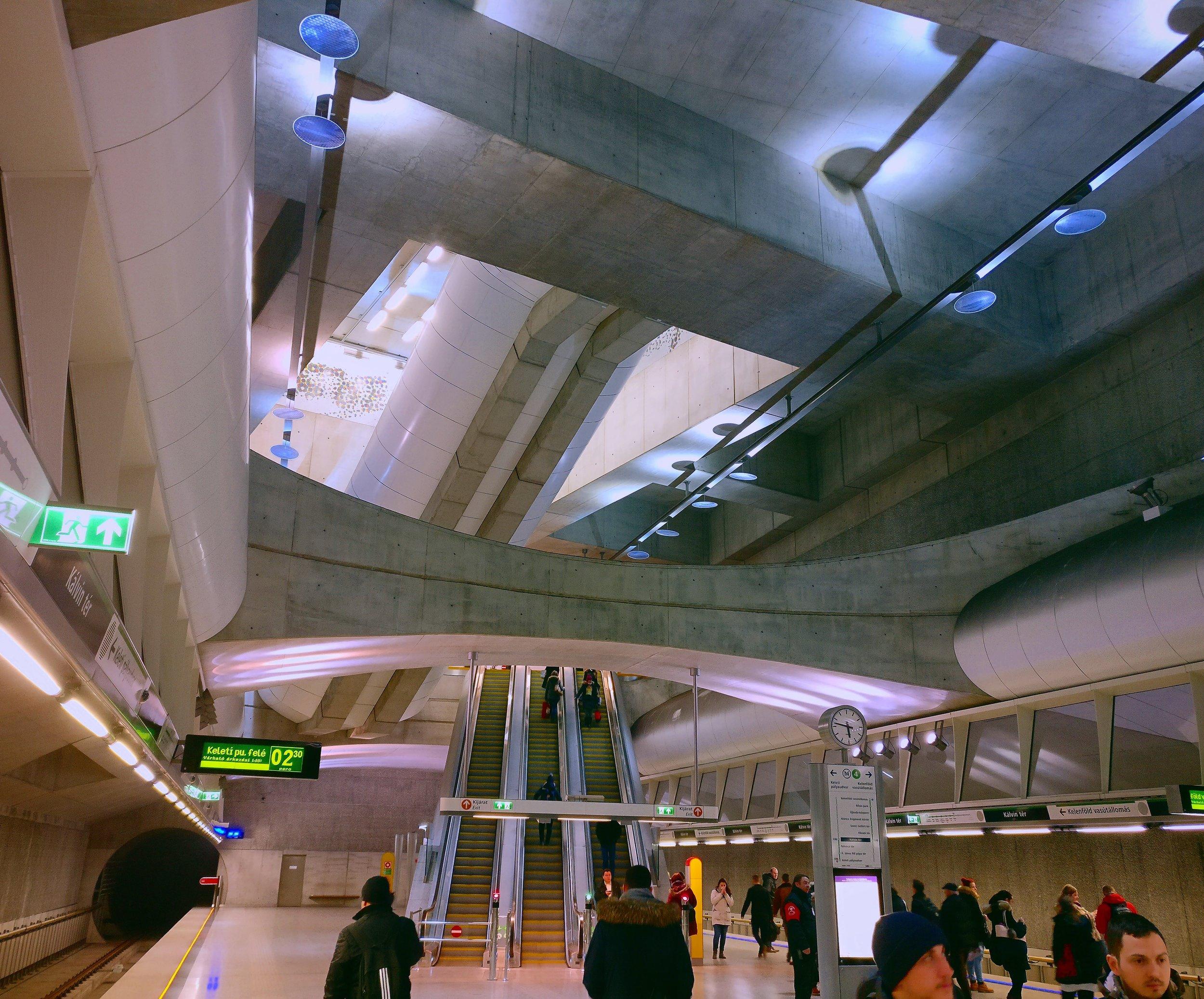 Futuristic metro stations