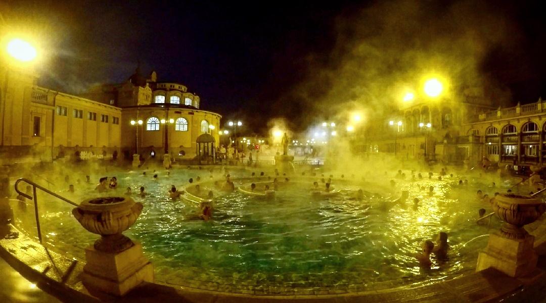 The baths after dark
