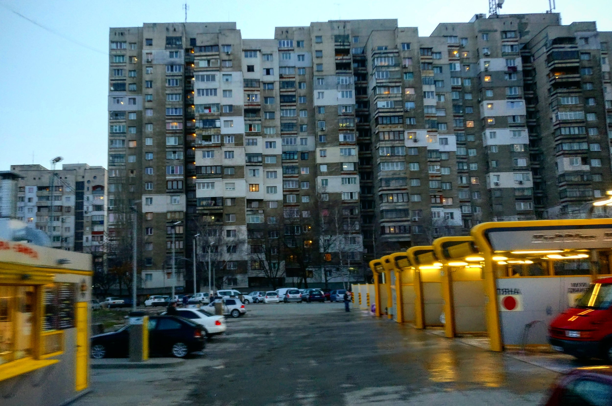 The dull apartments in the outskirts