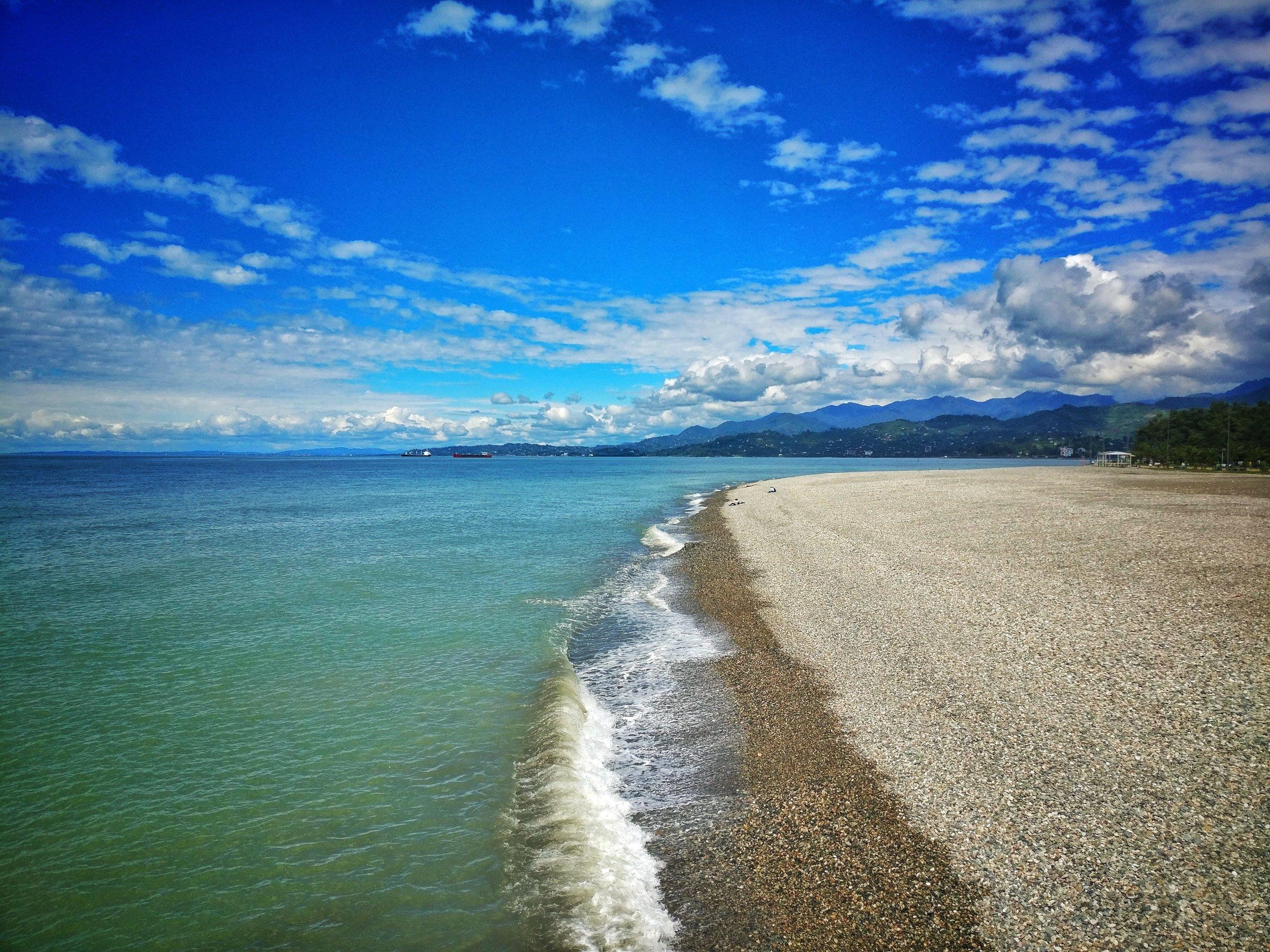 Batumi's coastline