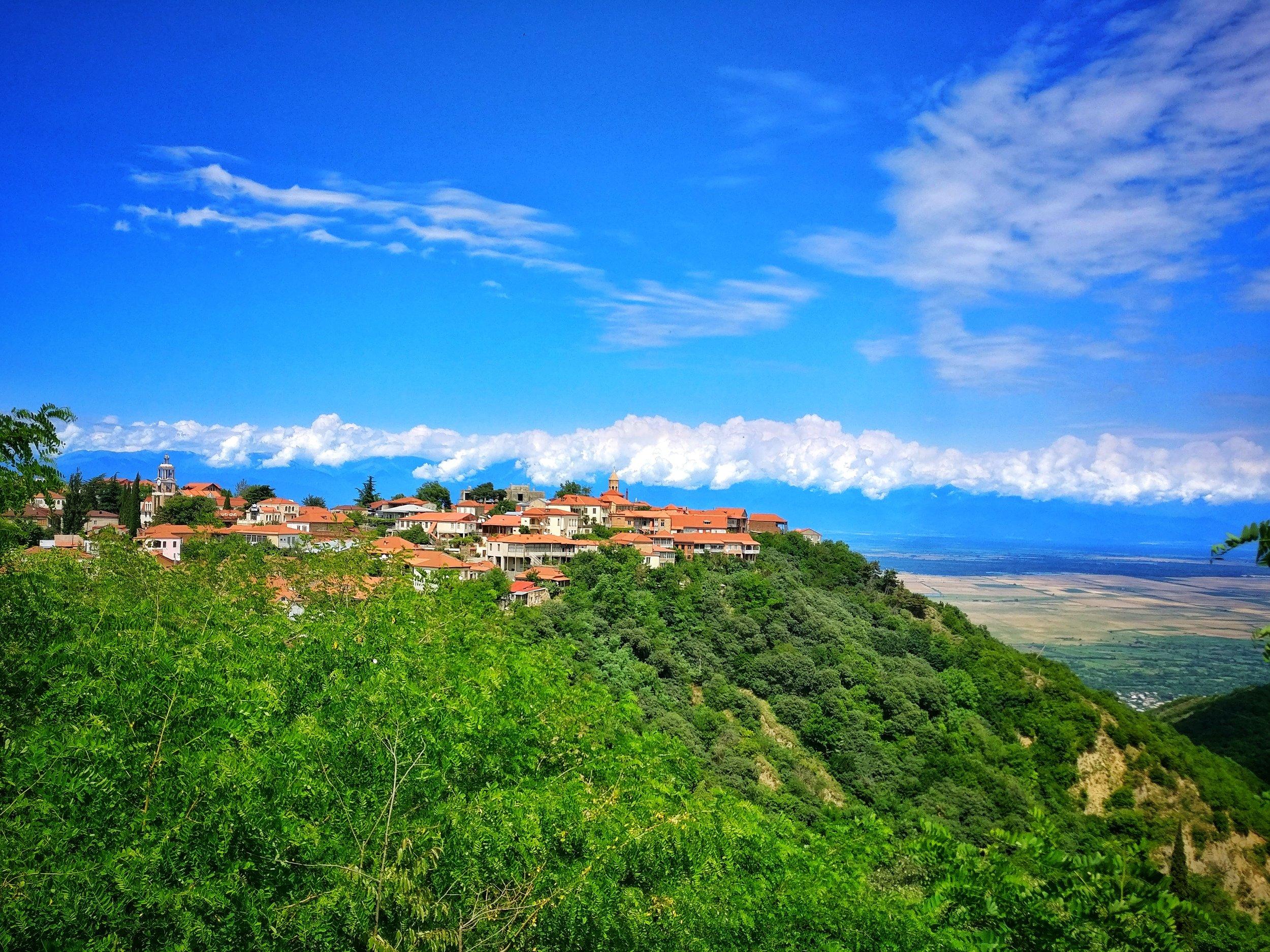 Signagi on the hilltop
