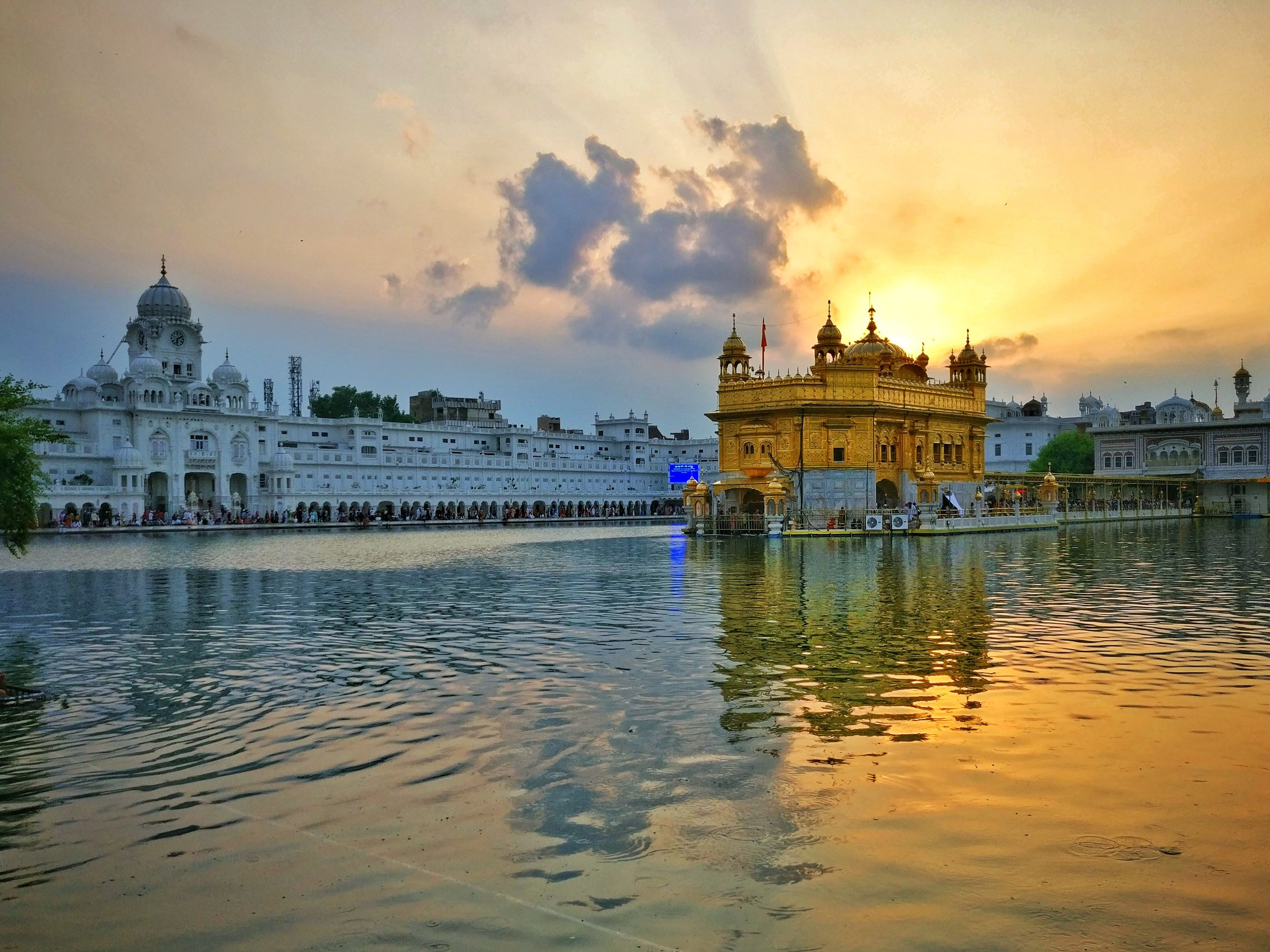 The Golden Temple by sunset