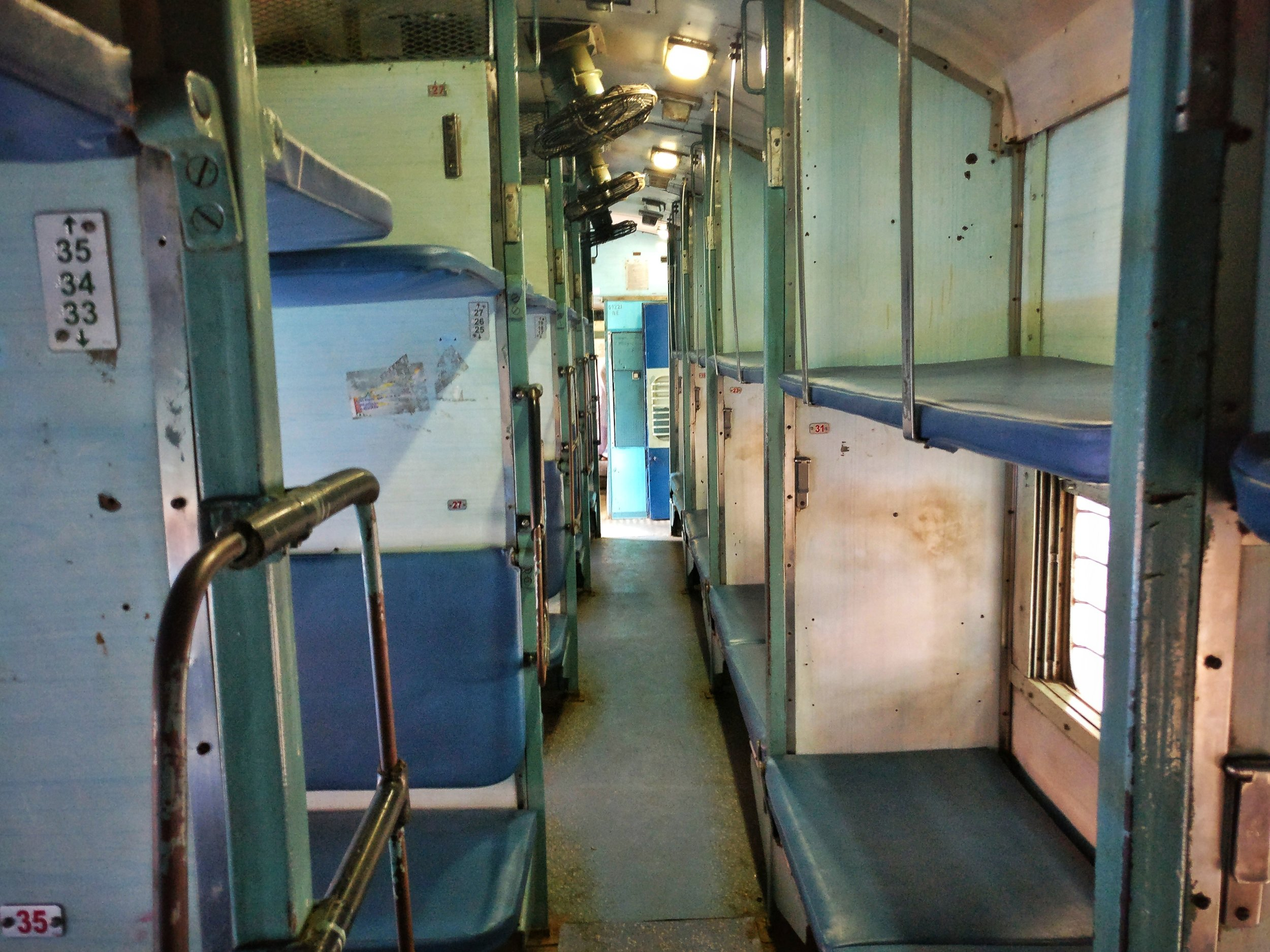 The train's emptied beds