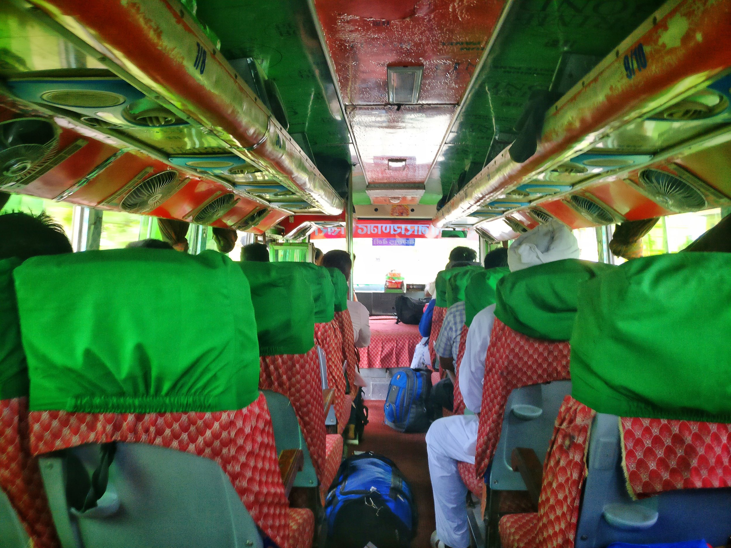 My bus out of Sunauli
