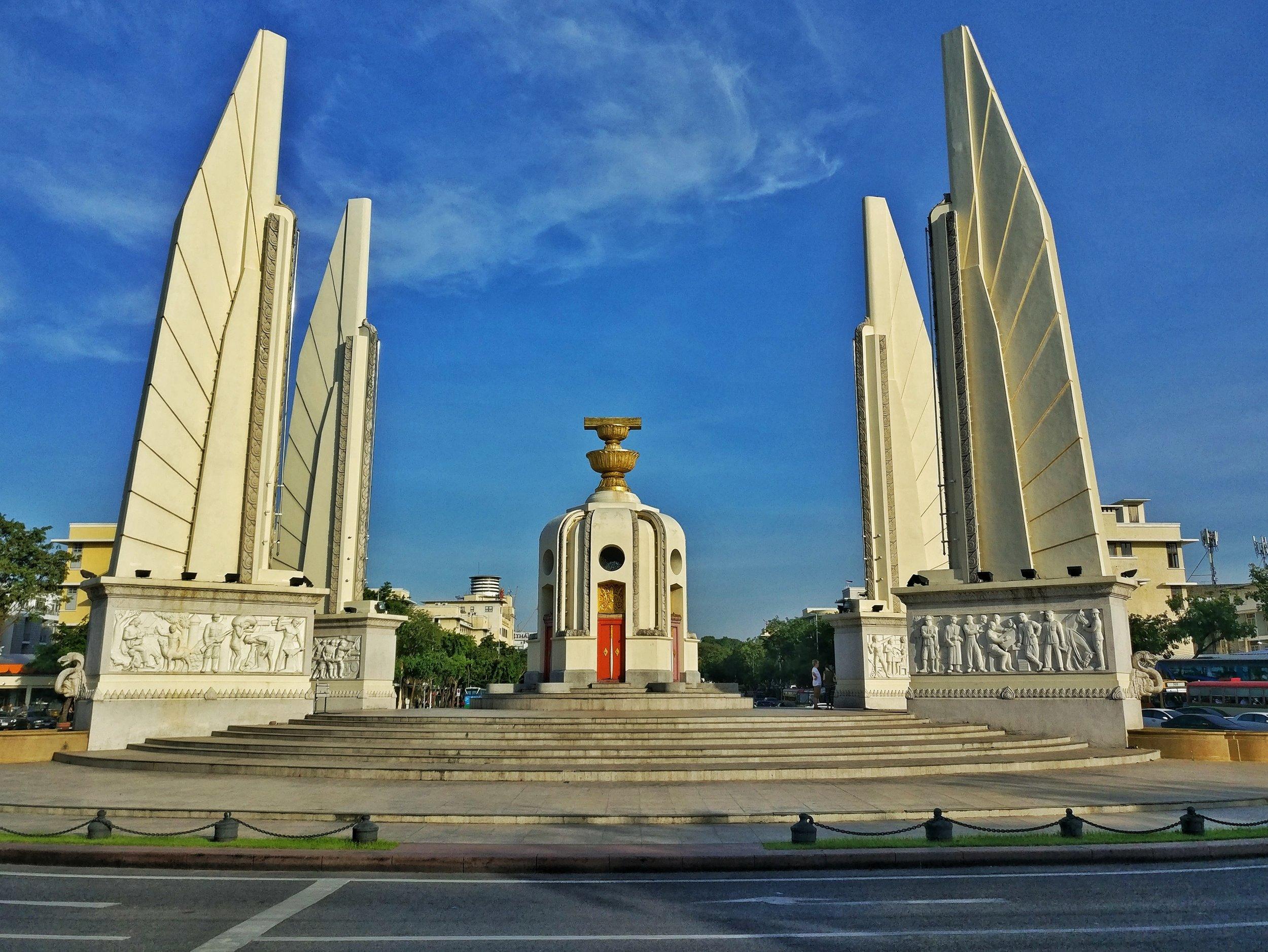 Democracy Monument in city centre