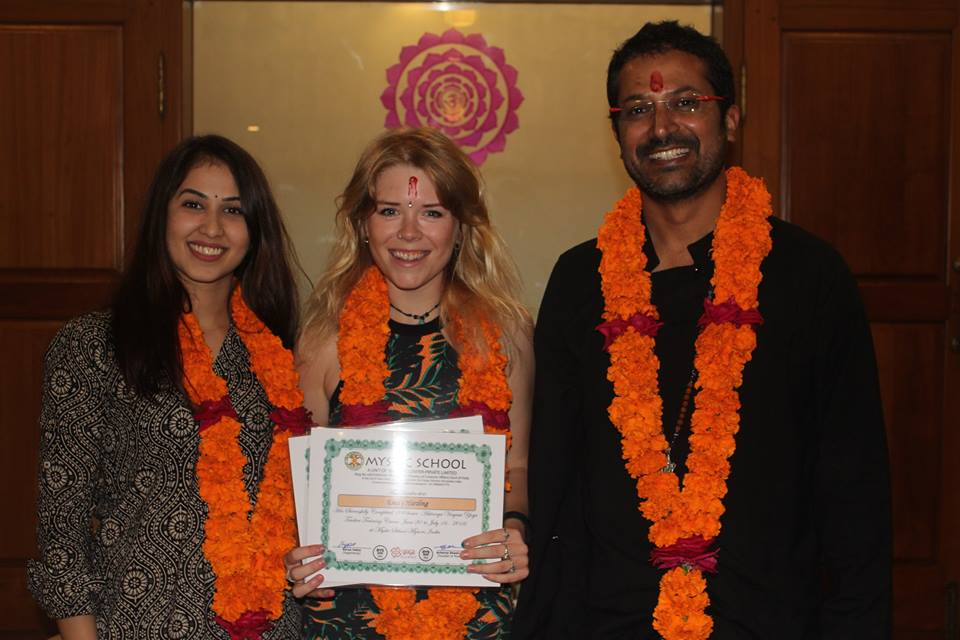 Graduating from Ashtanga YTT 200HR in Mysore, India - 2016
