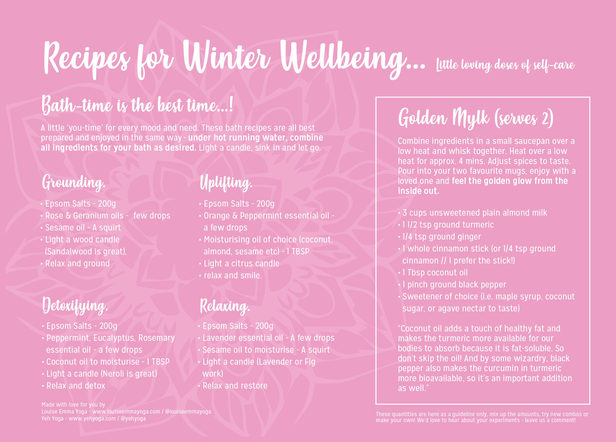 Self Care Bath Recipe Wellness
