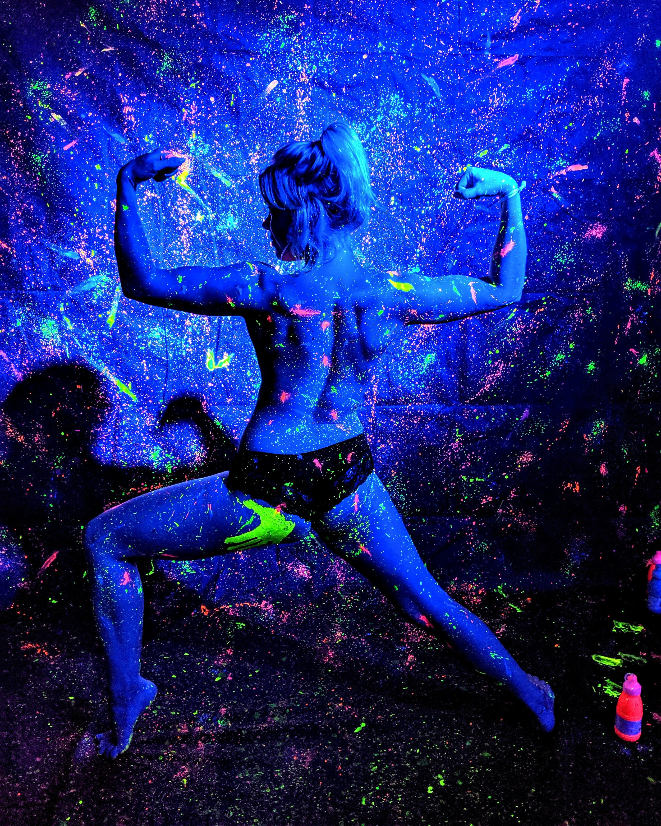 Leading 'Nude Glow Yoga' at Ministry of Sound Club